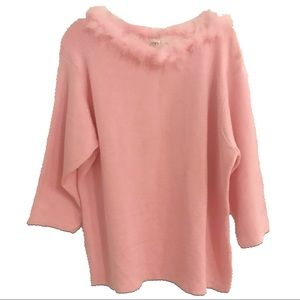 🆕 CATO WOMAN Plus Pink Sweater Feathers 18/20